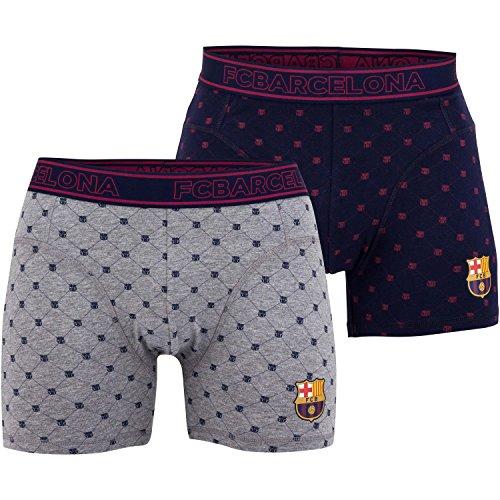 Set di 2boxer Fc Barcelona-Collezione ufficiale FC Barcellona-Taglia adulto uomo, Uomo, blu, M