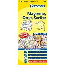 Carte DPARTEMENTS Mayenne, Orne, Sarthe
