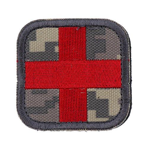 Hellery 5cm Gestickter Sanitäter Rotkreuz Flecken Militärischer Taktischer Sanitäter Der Ersten Hilfe - ACU Tarnfarbe -
