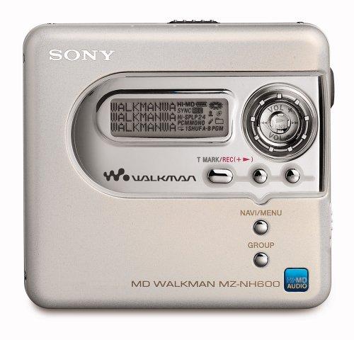 Sony MZ-NH 600/W Tragbarer MiniDisc-Rekorder (Hi-MD) weiß