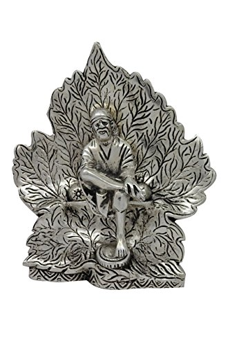 (Religiöse indische Handwerk Home Decor Sai Baba in Blatt Metall Statue Kunst Skulptur)