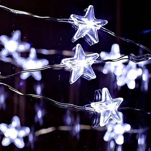 'Spritech (TM) Beautiful impermeabile Pentagram LED tenda luce per recinzione, Patio, Giardino, Natale, feste e matrimoni Festival decorazione, bianco caldo