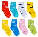#8: ESELPRO BABY BOYS GIRLS COTTON ANKLE LENGTH SOCKS 12-24 MONTHS (Set of 8 pairs) ASSORTED DESIGNS