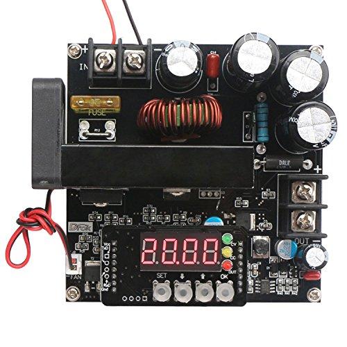 DROK® DC Controllo Numerico alimentazione di tensione, DC regolabile 8-60V di 10-120V Boost Converter Step Up, stabilizzatore di tensione programmabile Costante-corrente di alimentazione, 15A caricatore Display voltmetro