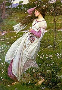 (Windflowers, Waterhouse 1902 Box Prints Reproduction (16,1 x 11,2 en) (41 x 28 cm