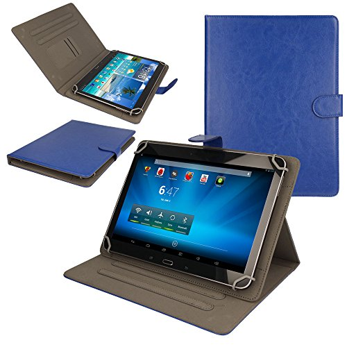 TECHGEAR® [Stellar (10)] Étui Universel pour Tablettes Lenovo A10 10.1 Pouces - Housse de Protection avec Stand de Visualisation (BLEU)