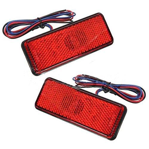 Anhänger Led-bremslicht (LED Ruecklicht Reflektoren - TOOGOO(R)2 x LED Roter Reflektor Endstueck Bremslicht Markierung Licht LKW Anhaenger ATV RV Motor SUV)