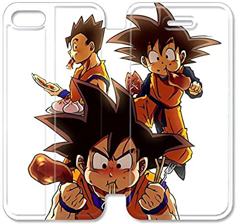 Coque iPhone 5C Coque Cuir, Klreng Walatina® PU Cuir de portefeuille de couverture Coque pour Coque iPhone 5C Design By Dragon Ball Z Goku U2B8Im