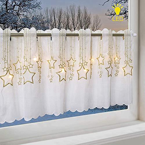 Delindo Lifestyle Tenda per finestre PIOVONO STELLE con LED, adatta ...