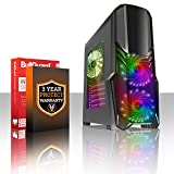 Fierce EXILE RGB Gaming PC Desktop Computer - Fast 3.9GHz Dual Core AMD A-Series 7400K - 1TB Hard Drive - 16GB of 1600MHz DDR3 RAM / Memory - AMD Radeon R5 Integrated Graphics - HDMI, USB3, Wi-Fi - 24X DVD/CD Drive - Perfect entry into PC Gaming - Windows Trial included - 3 Year Warranty - (406853)