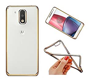 Kaira Electroplated Edge TPU Flexible Back Case Cover for Motorola Moto E3 Power - Gold