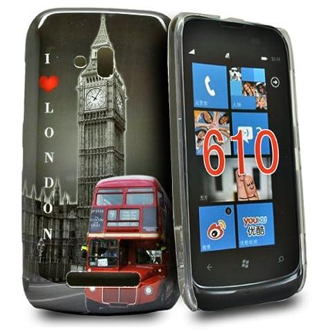 Accessory Master Coque rigide pour Nokia Lumia 610 Bus vue et l'amour Londres