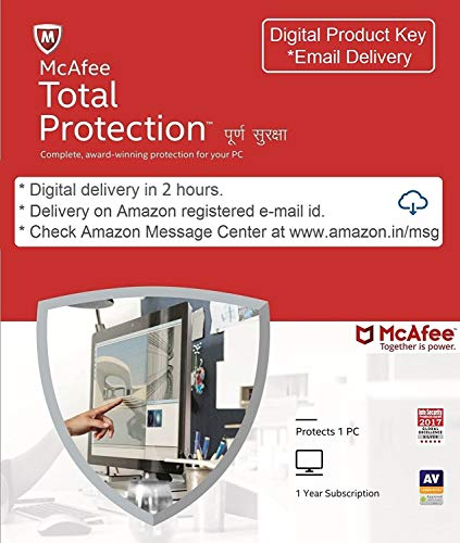 McAfee Total Protection- 1 User, 1 Year (Email Delivery in...