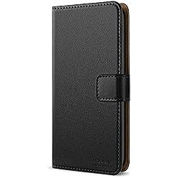 HOOMIL Coque LG G6, Housse en Cuir Premium Flip Case Portefeuille Etui Coque pour LG G6 (H3171, Noir)