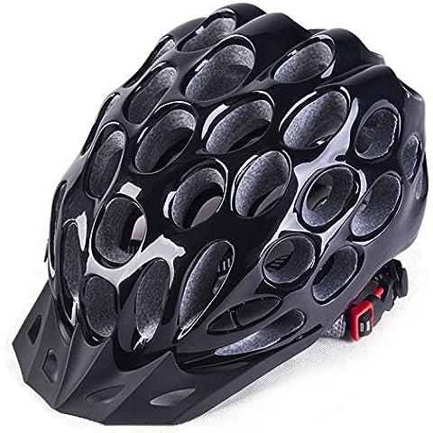 TKWMDZH® A nido d'ape formando uno uomini e donne equitazione casco caschi biciclette Superlight montagna bici strada , black