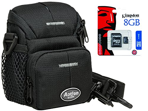 Foto Tasche ACTION S Tasche im Set mit 8GB SD Karte für Sony DSC- RX100 HX50 HX60 HX90