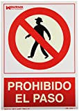 WOLFPACK 15050500 - Cartel Prohibido El Paso 30x21 cm