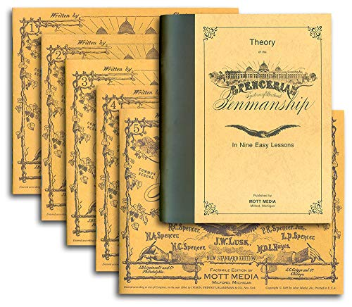 Spencerian Penmanship Theory +5 Copybooks -