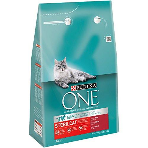 Purina ONE BIFENSIS Sterilcat Katzentrockenfutter, für kastrierte Katzen, gesunder Stoffwechsel -