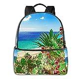 SGSKJ Mochila Tipo Casual Mochila Escolares Mochilas Escolar Estilo Impermeable para Viaje De Ordenador Portátil para Hombre Mujer Playa de la Isla de Fuerteventura