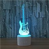 Xh&Yh Stéréo coloré de Bluetooth de lampe de la guitare LED de contact de 3D avec le changement 5 de couleur