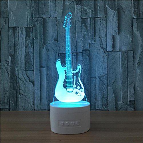 XH & YH Stereo colorato di Bluetooth di lampada della chitarra LED di contatto di 3d con il cambiamento 5di colore