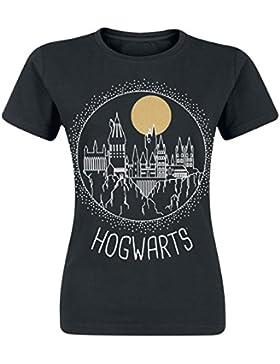 Circular Hogwarts Camiseta Mujer Negro