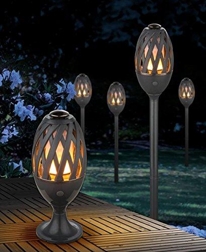 LED Außenfackel Fackel Leuchte Gartenfackel Flammeneffekt 70 cm mit USB 39901
