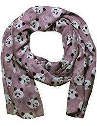 Women Scarf Panda Print Design Lightweight Scarves for Lady