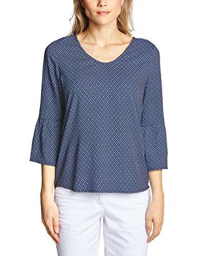 CECIL Damen 341474 Bluse per pack Mehrfarbig (deep blue 30128), XX-Large (Herstellergröße:XXL)
