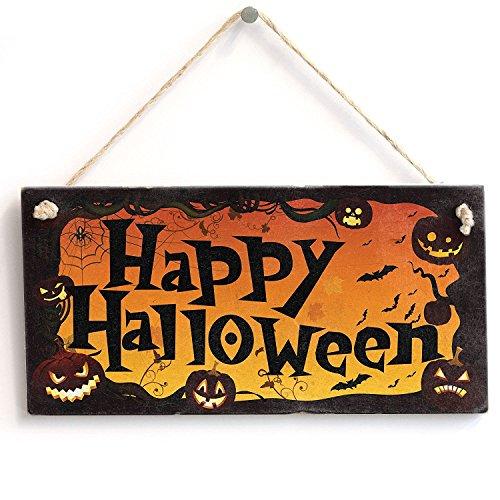 meijiafei Happy Halloween–Vintage PVC Schild/Plakette 25,4x 12,7cm