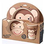 Decor Express Eco-Friendly Kids Bamboo Fiber Tableware Set/ Bamboo Fibre Dinner Set/Dinnerware/ Divided Plate for Babies...