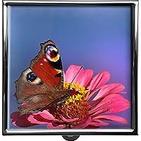 metALUm Pillendose/quadratisch / Modell Thorben/Schmetterling auf Blüte / 42010011 preisvergleich bei billige-tabletten.eu