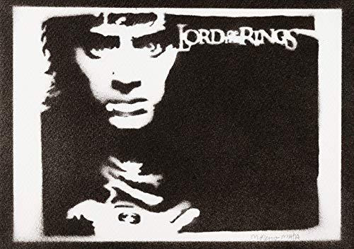 Sam Und Kostüm Frodo - Frodo Beutlin Herr Der Ringe (The Lord Of The Rings) Poster Plakat Handmade Graffiti Street Art - Artwork