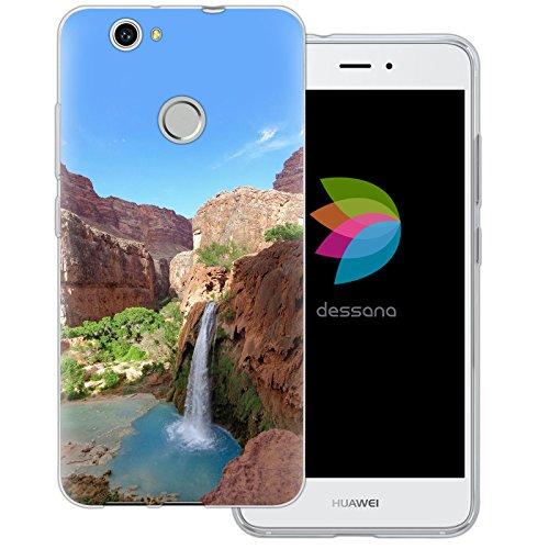 dessana Grand Canyon Transparente Silikon TPU Schutzhülle 0,7mm dünne Handy Tasche Soft Case für Huawei Nova Grand Canyon Wasserfall -
