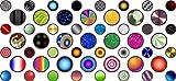 Autocollants colorés pour objectifs de webcam
