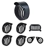 #9: LilyPin Headlight Grill Shade,Indicator,Tail, Eyes Grill For Royal Enfield Electra 350/500/EFI/Twin/Twinspark - Black (Plastic)