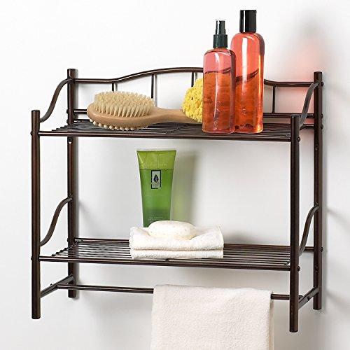 Creative Badewanne Produkte komplett Kollektion 2Regal Wand Organizer mit Handtuchhalter Bar, Öl eingerieben Bronze