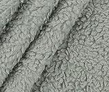 0,5m Teddy Plüsch - pistazie Baumwollmischung