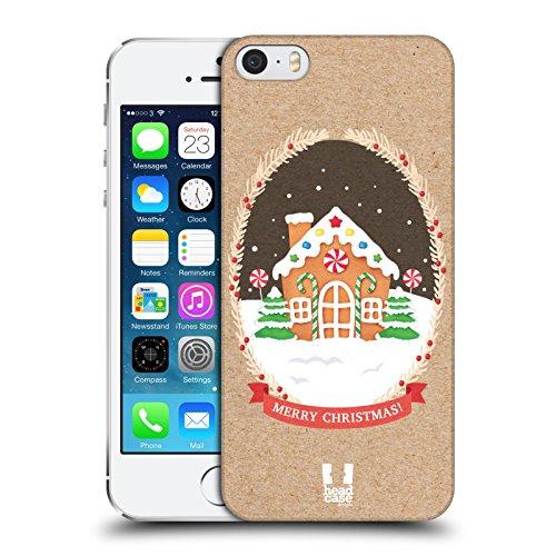 Head Case Designs Sacco Classici Del Natale 2 Cover Retro Rigida per Apple iPhone 3G / 3GS Casa Di Pan Pepato