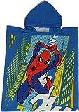 Disney Marvel Poncho Spiderman con Cappuccio in Microfibra Ideale Come Asciugamano da Spiaggia o Piscina