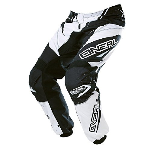 O NEAL ELEMENT MX PANTALON RACEWEAR NEGRO BLANCO MOTOCROSS ENDURO OFFROAD QUAD  0128 1