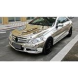 Hoho Car Wrap auto specchio cromato argento in vinile film foglio Air free 152,4x 50,8cm