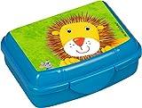 Spiegelburg Melamin Kindergeschirr Teller/Becher FRECHE RASSELBANDE (Snackbox Löwe)