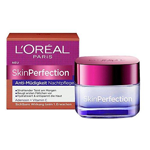 2 x L'Oreal Paris SkinPerfection Anti-Müdigkeit Nachtpflege/ je 50ml / Nachtcreme/ Gesichtscreme / Gesichtspflege