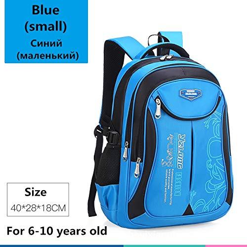 Schultasche für Kinderrucksack-Tasche Kinderschulsack Teen Junge Mädchen Hohe Kapazität wasserdichte Ausrüstung Kinderschultüte Mochila Little Blue