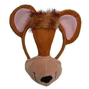 Zoelibat 97231141.004-Animales Máscara con sonido, máscara en pelo banda, Mono, talla única, multicolor
