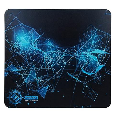 ENHANCE GX-MP5 XL Tapis de Souris Gaming Rigide (34 x 31cm) – Surface en plastique ABS & base antidérapante en caoutchouc – Compatible avec souris gaming, Logitech G502 RGB, Razer DeathAdder, TeckNet… Et toute autre souris