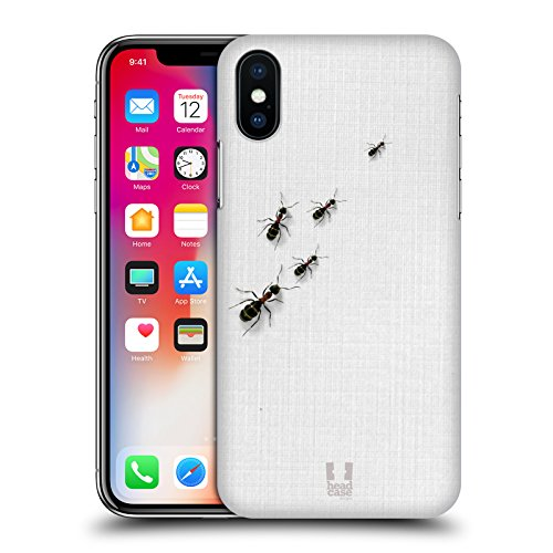 Head Case Designs Formiche Sul Tavolo Camaleonte Cover Retro Rigida per Apple iPhone X Formiche Sul Tavolo