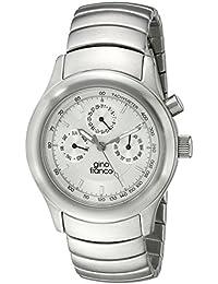gino franco Men's 961SL Round Stainless Steel Chronograph Bracelet Watch